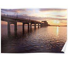 sunset at kincardine bridge Poster