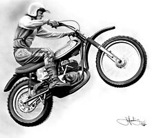 1975 dirt bike drawing by John Harding