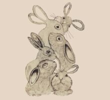 crazy rabbits by Beste Erel