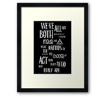 Sirius Quote Framed Print
