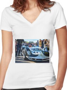 John Bladon's 1965 Maclaren-Chevrolet MIA puts in an appearance at Goodwood Revival Women's Fitted V-Neck T-Shirt