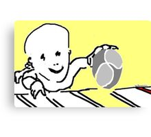baby with ball -(120311)- mouse drawn/ms paint Canvas Print