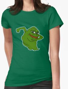 Ghostbuster pepe Womens Fitted T-Shirt