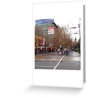 A rainy day in Melbourne VIC Australia  Greeting Card
