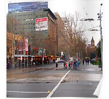 A rainy day in Melbourne VIC Australia  Poster