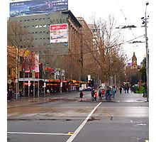A rainy day in Melbourne VIC Australia  Photographic Print