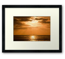Sunset Cliffs Framed Print