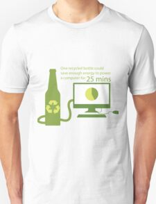 Recycled Glass Bottle Illustration  Unisex T-Shirt