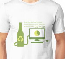 Recycled Glass Bottle Illustration  Unisex T-Shirt