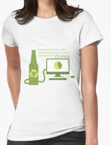 Recycled Glass Bottle Illustration  Womens Fitted T-Shirt