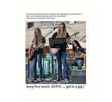 Get To A Gig ! 2 of ? Art Print