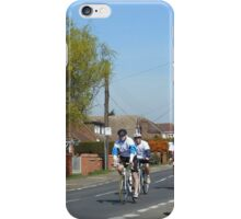 Cyclists in a Country Lane iPhone Case/Skin