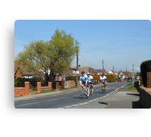 Cyclists in a Country Lane Canvas Print