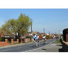 Cyclists in a Country Lane Photographic Print