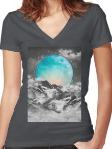 It Seemed To Chase the Darkness Away Women's Fitted V-Neck T-Shirt