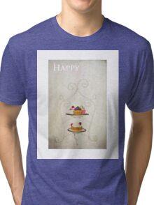 Happy Birthday (Cake Version) Tri-blend T-Shirt