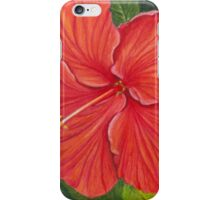 Red Hibiscus iPhone Case/Skin