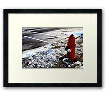 Frozen Fire-Hydrant Framed Print