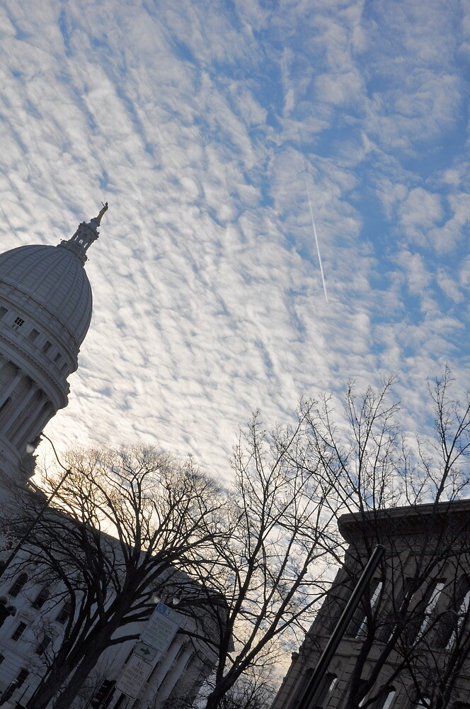 Wisconsin State Capital at Sunset by Madison Jacox