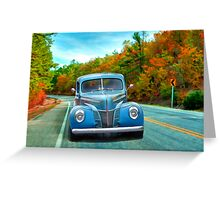 Fall Cruising,..40 Styling Greeting Card