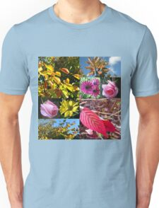 Autumn Collage with Roses Unisex T-Shirt
