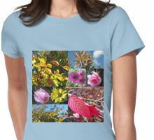 Autumn Collage with Roses Womens Fitted T-Shirt