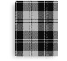 00593 Erskine Black & White Clan/Family Tartan Canvas Print