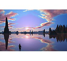 Michalles Pond - Bowling's World Photographic Print