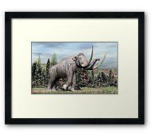 Columbian Mammoth (Mammuthus columbi) Framed Print