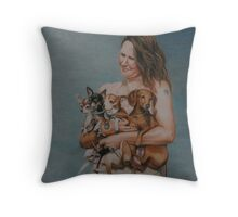 4 Rescues Throw Pillow