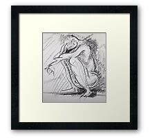 Conte Nude Framed Print
