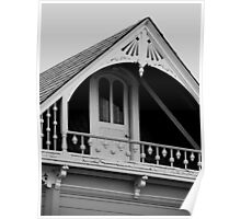 """""""Arched Victorian Balcony"""" Poster"""