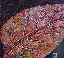 Fall Leaf Close-up by Yvan Strong