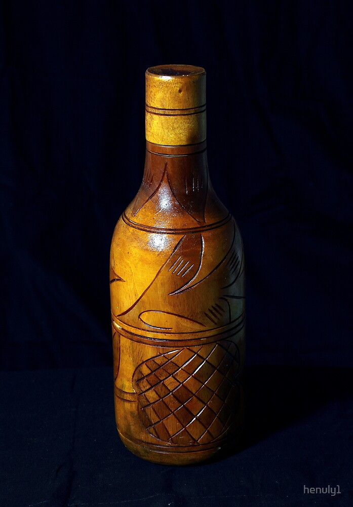 wooden bottle by henuly1