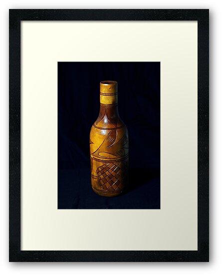 wooden bottle by henuly1