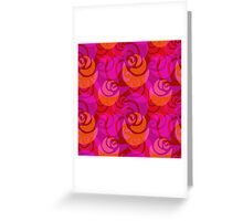 Roses pattern Greeting Card