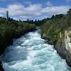 New Zealand Huka Falls by sarbi