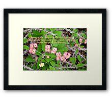 Crown of Thorns (card) Framed Print