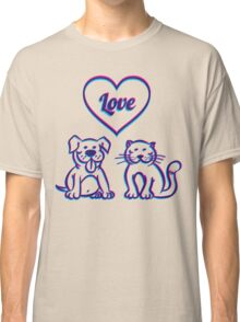 Cat and dog Classic T-Shirt