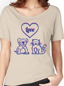 Cat and dog Women's Relaxed Fit T-Shirt