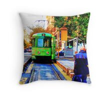 The Electric Tram #2 Throw Pillow