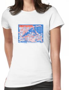 Hamilton Restaurant Placemat Womens Fitted T-Shirt