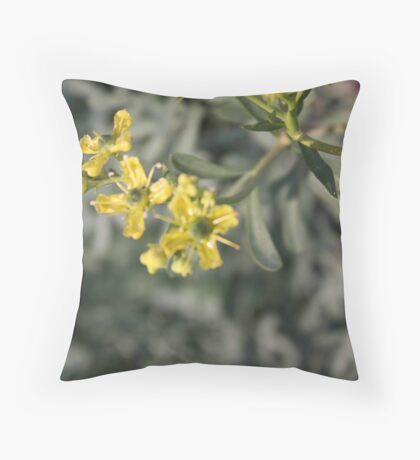 Blooming Rue Throw Pillow