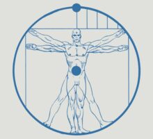 Vitruvian Mr. Manhattan  by FAMOUSAFTERDETH