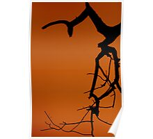 silhouette with out Life   Poster