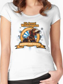 7th Annual Wilmington Wiener Dog Races Women's Fitted Scoop T-Shirt