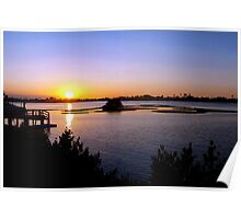 Intracoastal sunset Poster