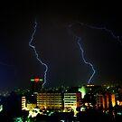 Lightning over Amman by Robert Case