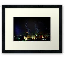 Lightning over Amman Framed Print