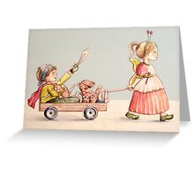 Super Pirate and the Fairy Princess Greeting Card